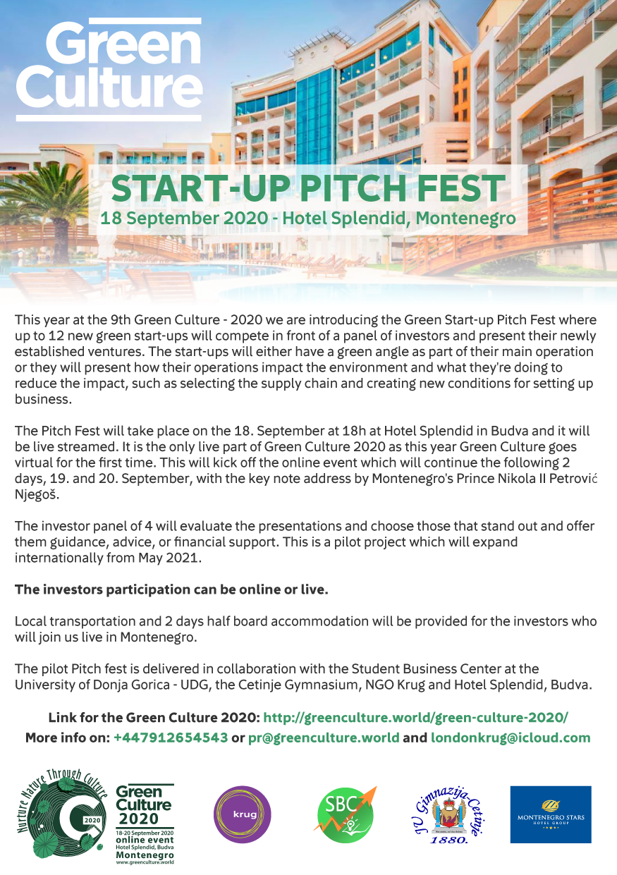 Green Culture 2020 Start-up Pitch Fest